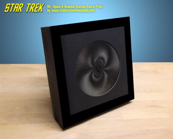 Star Trek Mr. Spock Science Station Moire